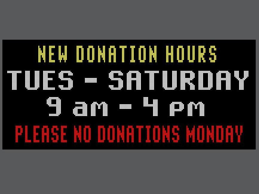 Donation hours adj